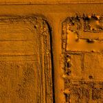 Топографическая съёмка Масштаба 500 с сечением рельефа 0,5 м.